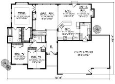 ranch house plans with open floor plan | Wildhorse Creek Ranch Home Plan 051D-0326 | House Plans and More