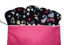 Set of 5 Cute Cats Cloth Pads Reusable Cloth by JuliansBoutique