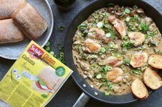 Chicken with Sun-Dried Tomato Cream Sauce Ciabatta, Tomato Cream Sauces, Fitness Diet, Paella, Bread Recipes, Potato Salad, Slow Cooker, Sausage, Healthy Lifestyle