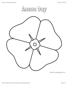 This Poppy coloring page features a picture of a large poppy to color for Anzac Day. The coloring page is printable and can be used in the classroom or at home. Remembrance Day Pictures, Remembrance Day Poppy, Memorial Day Activities, Remembrance Day Activities, Poppy Coloring Page, Coloring Pages, Coloring Sheets, Colouring, Poppy Template