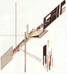 Rem Koolhaas, Elia Zenghelis, Zaha Hadid, Dutch Parliament Extension, 1978