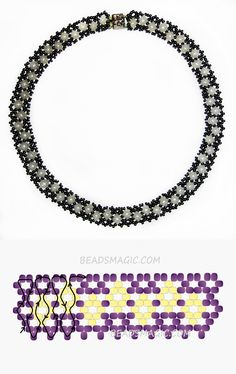 Free pattern for beaded necklace Manuela 11/0