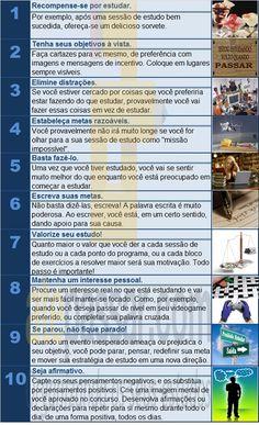 Tabela 10 dicas motivação atépassar