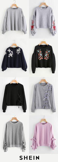 Round neck sweatshirts