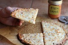A cauliflower-based pizza crust: non-dairy, holds together well, who'd a thought?