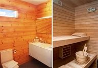 That Sauna'y feel you keep talking about. Combined with white tiles would be pretty sweet