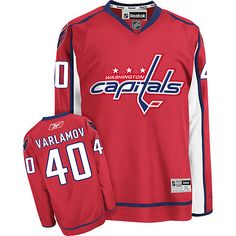 Washington Capitals Semyon Varlamov 40 Red Authentic Jersey Sale