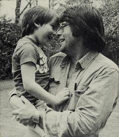 Stephen King and son Joe (Hill)