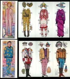 2 Satirical Paper Doll Folders Nancy Ronald Reagan 1981