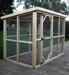 A nice and simple design for a catio. Switch the door to the other side and plac… A nice and simple design for a catio. Switch the door to the other side and place against wall with a cat door. Add a couple climbing perches and voila! Chicken Coop Designs, Building A Chicken Coop, Diy Chicken Coop, Simple Chicken Coop, Keeping Chickens, Raising Chickens, Rabbit Run, Chicken Pen, Simple Shed