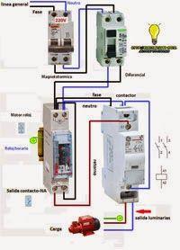 Maniobra reloj horario contactor monofasico