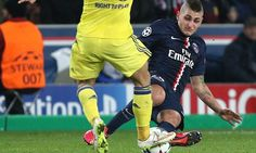 Verratti lucky to escape after two-footed lunge on Hazard