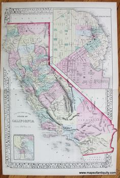 67 Best California Maps and Prints images