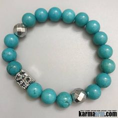 #BEADED #Yoga #BRACELETS  ♛ #Turquoise is a gemstone that provides protection, grounding, strength, courage, love and luck.  It is also a token of #friendship. Perhaps it's strongest ability is for alleviating negativity.  #Mens #Good #Luck #womens #Jewelry #Fertility #Eckhart #Tolle #Crystals #Energy #gifts #Chakra #Healing #Kundalini #Law #Attraction #LOA #Love #Mala #Meditation #prayer #Reiki #mindfulness #wisdom #CrystalEnergy #Spiritual