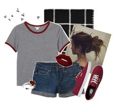 """""""Going on a picnic"""" by zoe5sws ❤ liked on Polyvore featuring Alicia Adams, Monki, Aéropostale, Lime Crime and Vans"""