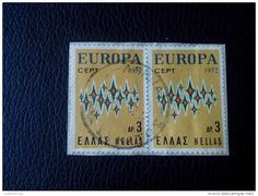 RRR EUROPA 1972 3 DP. GREECE HELLAS RECOMMENDET PACKAGE-LETTRE ON PAPER COVER SEAL - Greece