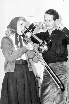 Paul Newman & Joanne Woodward, 1959.