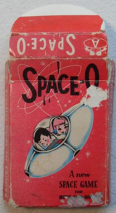 """SPACE-O - """"A new space game boys and girls...""""  - (MCM, mid century modern, space age, atomic era)"""