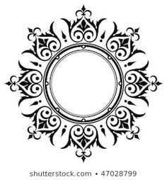 Stencil Patterns, Stencil Designs, Painting Patterns, Pattern Art, Stencils, Stencil Painting, Mandala Design, Mandala Art, Motifs Islamiques