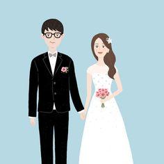 #illust #illustration #イラスト #일러스트 #그림 #絵 #드로잉 #drawing #신랑신부 #결혼 #청첩장일러스트 #wedding