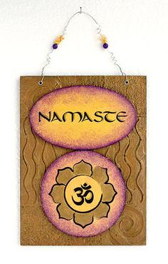 Namaste OM Wall hanging sign for Your Yoga Space by TheArtofMind, $40.00