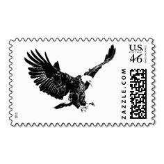 Flying Eagle Silhouette Postage - usa united states canada canadian, patriot symbols historical national, colorful watercolor effect digital, computer software photoshop image, country nature wildlife, birds popular style pictures, american bald eagle national symbol, usa military air force icon, wild eagle fly blue night, postage stamps