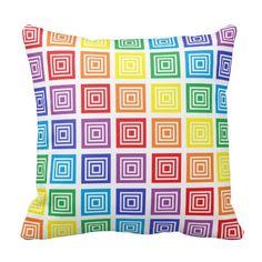 Rainbow Squared Pillow