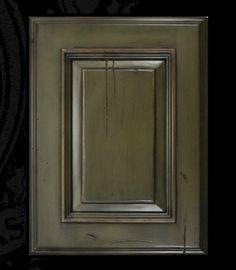Austin Rustic Alder Wood, Avocado Signature Finish Benedettini Cabinets