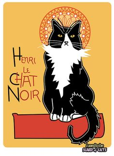 henri le chat noir fanart by I USED TO BE SCARED OF CATS