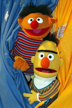 "when the CEO of the Sesame Street Workshop was asked if Bert and Ernie are gay, he replied, ""They are not gay, they are not straight, they are puppets. They don't exist below the waist."""