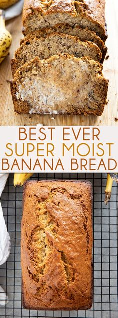 Best Banana Bread Recipe is so easy to make and super soft and moist The very best way to use up overripe bananas this bread is tender and packed full of flavor bananabread easybananabread bestbananabread bananabreadrecipe thesaltymarshmallow Easy Bread Recipes, Banana Bread Recipes, Overripe Banana Recipes, Homemade Banana Bread, Banana Nut Bread Recipe 3 Bananas, Homemade Breads, Banana Avocado Bread, Banana Bread Recipe With Butter, Egg Recipes