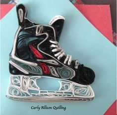 Quilled Hockey Skate Carly Allison Quilling