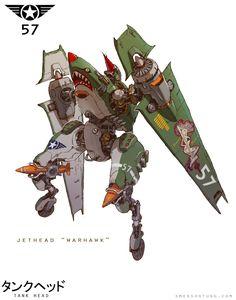 """ArtStation - JetHead """"Warhawk"""", Emerson Tung"""