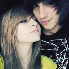 cute emo couples http://emoswallpapers.blogspot.in/2012/10/cute-emo-couples.html