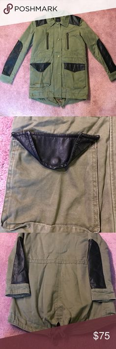 Olive Utility Jacket Great condition!! Will consider offers :) Forever 21 Jackets & Coats Utility Jackets