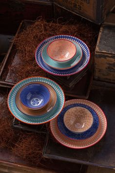 Colorful Ceramic Ramen Bowls