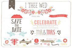 I Thee Wed (Vector) by LaRue & Company on Creative Market