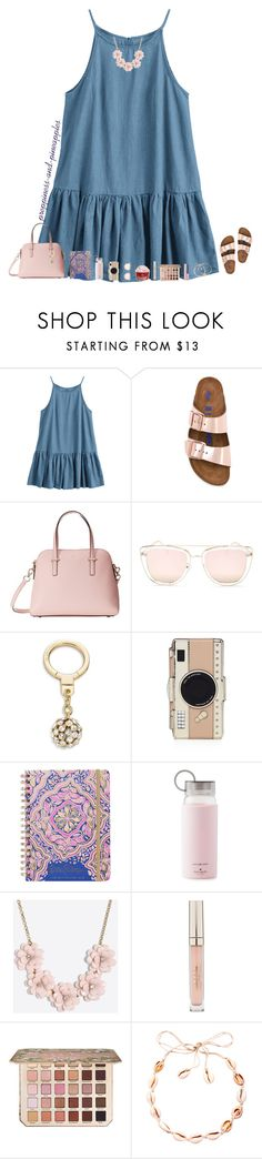 """✧ day 7"" by preppiness-and-pineapples ❤ liked on Polyvore featuring Birkenstock, Kate Spade, Quay, Lilly Pulitzer, J.Crew, Stila, Too Faced Cosmetics, Alex and Ani, julesroadtrip and julesday7"