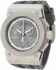 Invicta Men's 1358 Reserve Akula Chronograph Silver Grey Sunray Grey Dial Grey Silicone Watch Invicta. $192.74. Water-resistant to 100 M (330 feet). Chronograph functions with 60 second, 30 minute and 1/10th of a second subdials; date function. Flame-fusion crystal; brushed and polished stainless steel case; grey silicone strap. Swiss quartz movement. Silver grey sunray dial with white hands and gunmetal hour markers; luminous. Save 78% Off!