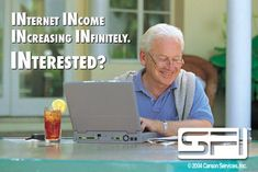 Retired? Unemployed? Laid-Off, or Insufficient Income? Start your own Internet business from home. Build residual and leveraged income to create real wealth. World Wide Income System that REALLY WORKS! All it needs is you. FREE Training and support, websites and products all provided! - ZERO RISK!  www.sfi4.com/12659909/FREE