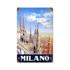 Vintage and Retro Wall Decor - JackandFriends.com - Retro Milan  Metal Sign 12 x 18 Inches, $39.97 (http://www.jackandfriends.com/retro-milan-metal-sign-12-x-18-inches/)