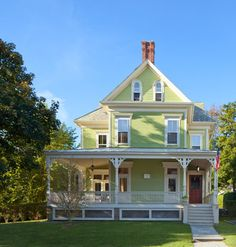 Newport Victorian - traditional - Exterior - Providence - Anthony Crisafulli LOVE the Colour!