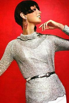 Lurex fashion, Marie Claire (France) December 1965