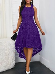 Women's Cocktail Party Party Asymmetrical A Line Dress - Solid Colored Lace Spri. Women's Cocktail Party Party Asymmetrical A Line Dress – Solid Colored Lace Spring Lace Black W Sexy Party Dress, Sexy Dresses, Evening Dresses, Fashion Dresses, Dress Outfits, Lace Dresses, Sleeveless Dresses, Party Dresses, Maxi Dress Wedding