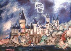 Hogwarts castle - Harry Potter Fan Art (33553189) - Fanpop