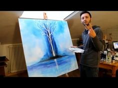 glow in the dark painting tree by crisco art - YouTube  (don't care for the music in this vid, but the painting looks like fun...)