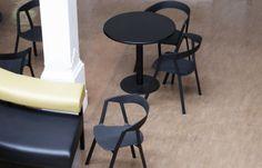 Brighton Dome Café-bar (UK) Compas chair by Christophe Norguet for Kristalia #designchair #bistrofurniture #blackfurniture