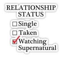 Relationship Status - Watching Supernatural Sticker