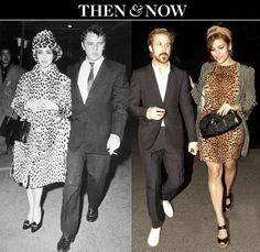 Eva Mendes and Ryan Gosling Evoke Old Hollywood Glamour -plaid jacket -fitted dress -espadrilles -head scarf Eve Mendes, Eva Mendes And Ryan, Elizabeth Taylor Jewelry, Ryan Gosling, Laid Back Style, Perfect Couple, Old Hollywood Glamour, Famous Faces, Winter Outfits