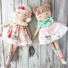 Getting these pretty girls all finished up for tomorrow's restock ✨ #rusticelegancecollection #fabricdolls #handmadedolls #clothdolls #spuncandydolls #restock #comingsoon